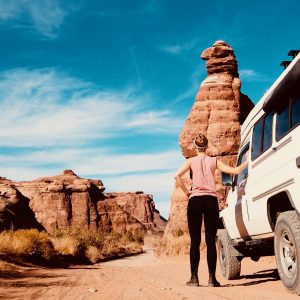 Staub und Pisten in Moab
